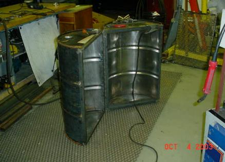 how to cut a 55 gallon plastic drum in half